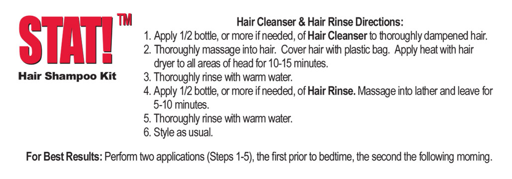 Stat Shampoo Kit Scientifically Refine And Providing Results