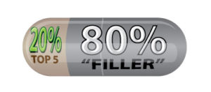 Other Blends contain less than 40% of the top 5 blend. Leaving other 60% as inexpensive filler materials.